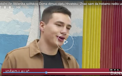 rtl.hr – Nesebični čin štićenika splitskog Doma dirnuo cijelu Hrvatsku: 'Znao sam da trebamo nešto učiniti'